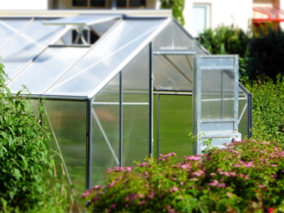 Greenhouse on a Garden